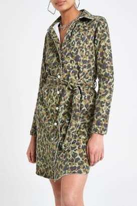 3ec9c5668 River Island Womens Camo Print Dress - Green