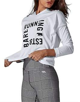 """Running Bare All Access"""" L/S Cropped Hoodie"""