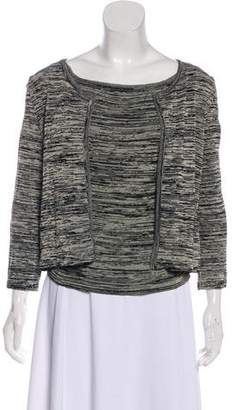 Chanel Patterned Scoop Neck Cardigan Set