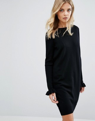 Whistles Frill Cuff Knit Sleeve Dress $181 thestylecure.com