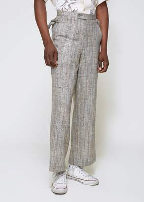 Bode Woven Silk Side Tie Trouser