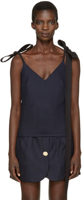 Jacquemus Navy 'Le Top Bretelles' Tank Top $410 thestylecure.com