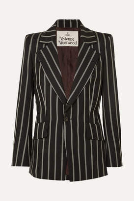 Vivienne Westwood Lou Lou Striped Wool Blazer - Black