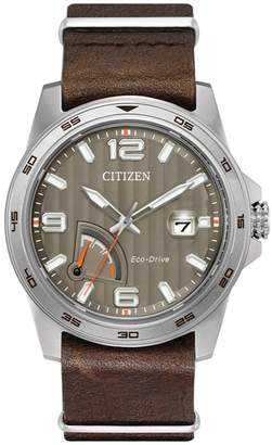 Citizen Men's Eco-Drive Leather Strap Watch, 42mm