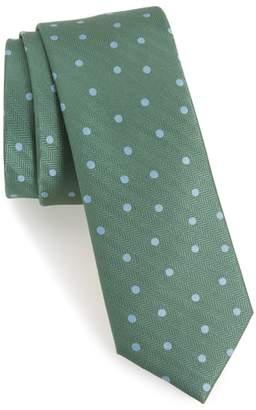 The Tie Bar Jackson Dot Silk Tie