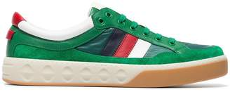 Gucci Leather and nylon sneakers