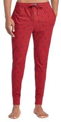 Ralph Lauren Pony-Print Cotton Jogger Pants