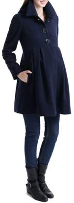 Kimi and Kai Faye Hooded Maternity Peacoat