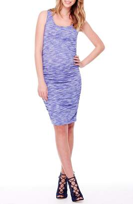 Ingrid & Isabel R) Space Dye Ruched Maternity Tank Dress