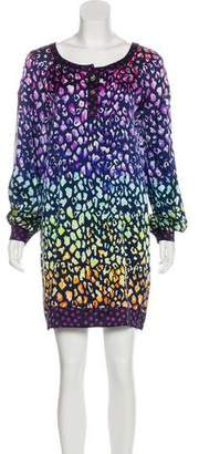 Matthew Williamson Silk Animal Print Dress