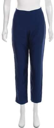 Wes Gordon High-Rise Silk Pants