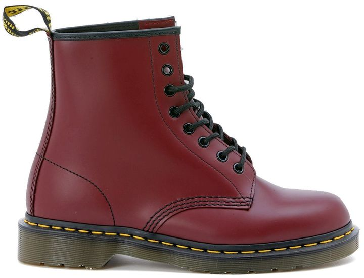 Dr. Martens Dr. Martens 8 Eyelet Cherry Red Smooth Boot