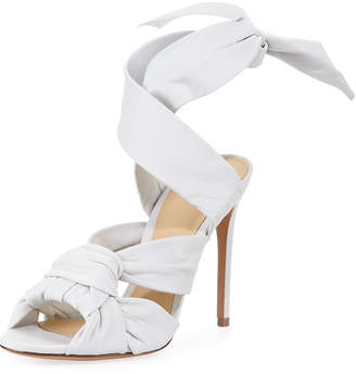 Alexandre Birman Maleah Leather Ankle-Tie Sandal