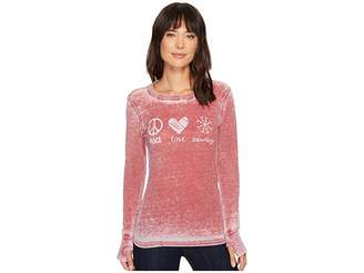 Allen Allen Peace Love Snowdays Thermal Top Women's Clothing