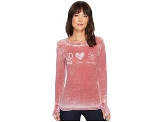 Allen Allen Peace Love Snowdays Thermal Top Women's Clothing
