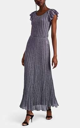 Missoni Women's Metallic Striped Rib-Knit Maxi Dress - Purple