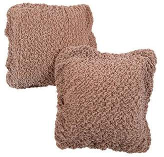 Dransfield and Ross Pair of Ruffled Throw Pillows