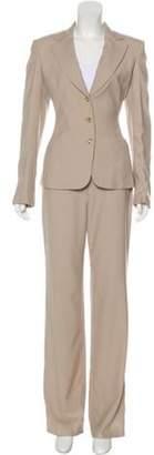 Versace Three-Piece Wool Suit Set Beige Three-Piece Wool Suit Set