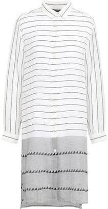 Vix Paula Hermanny Striped Cotton-gauze Coverup