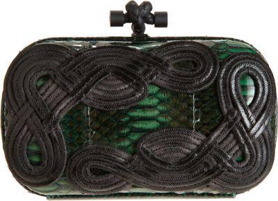 Bottega Veneta Knot Snakeskin Passamaneria Clutch