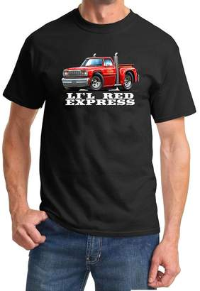Express Maddmax Car Art 1978 Dodge Lil Red Pickup Truck Full Color Design Tshirt