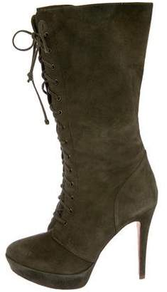 Alexandre Birman Suede Lace-Up Boots