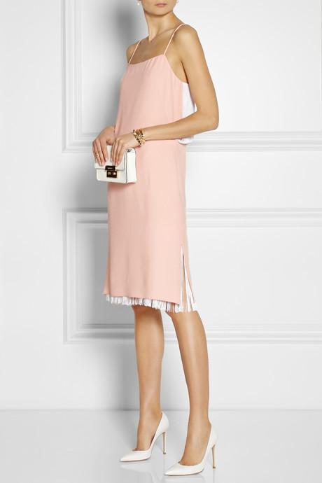 ADAM by Adam Lippes Fringed crepe dress