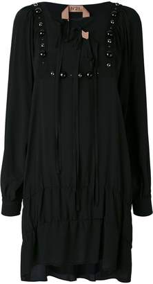 No.21 embellished long sleeve dress