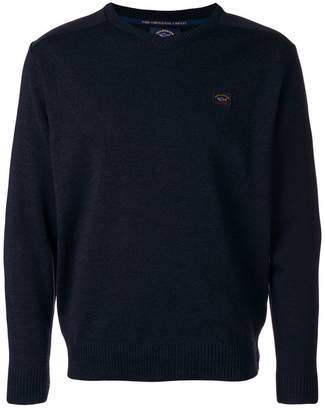 Paul & Shark v neck jumper