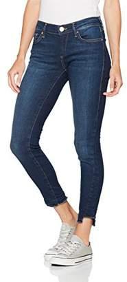 True Religion Women's Halle Broken Twill Skinny Jeans, Blue