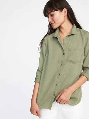 Old Navy Relaxed Tencel® Shirt for Women