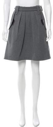 Brunello Cucinelli Belted Knee-Length Skirt