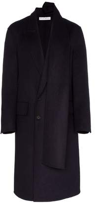 J.W.Anderson scarf attached double breasted coat