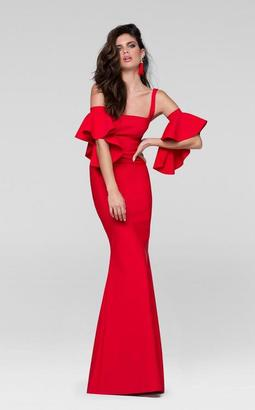 Tarik Ediz - Fitted Gown with Bell Sleeves Armband 50041 $355 thestylecure.com