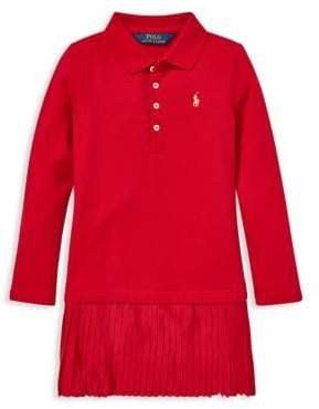 Ralph Lauren Childrenswear Little Girl's Pleated Polo Dress