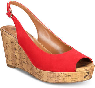 Style&Co. Style & Co Sondire Platform Wedge Sandals, Created for Macy's Women's Shoes