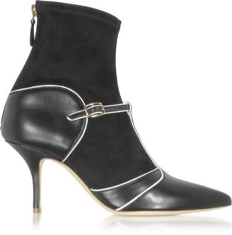 Malone Souliers By Roy Luwolt Color Block Nappa Leather and Stretch Suede Sadie Bootie