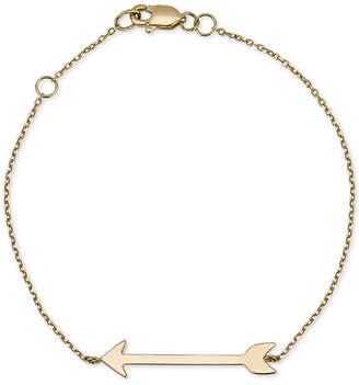 Sarah Chloe Arrow Link Bracelet in 14k Gold