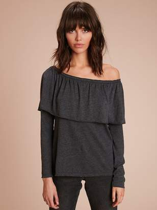 Nation Ltd. Gia Off Shoulder Ruffle Tee
