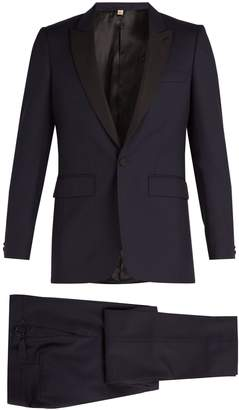 Burberry Contrast-lapel single-breasted wool tuxedo