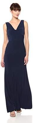 Vera Wang Women's Sleeveless Twist Front Gown