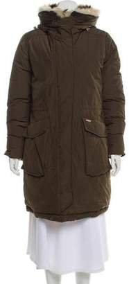 Woolrich Fur Trim Down Coat