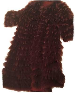Georges Rech Burgundy Fox Coat for Women