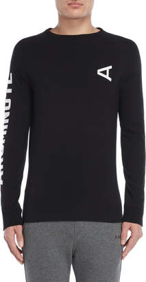 Arc Minute Black Long Sleeve Tee