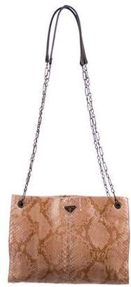 66596d5a0bfe Prada Brown Chain Strap Shoulder Bags - ShopStyle