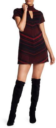 Amanda Uprichard Mock Neck Zigzag Sweater Dress