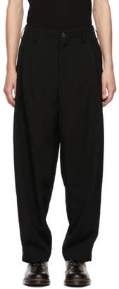 Yohji Yamamoto Black G-Side Tuck Trousers
