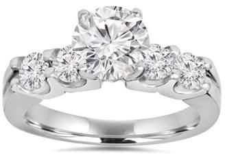 Pompeii3 2.30Ct Round Brilliant Solitaire Enhanced Diamond Engagement Ring 14K White Gold
