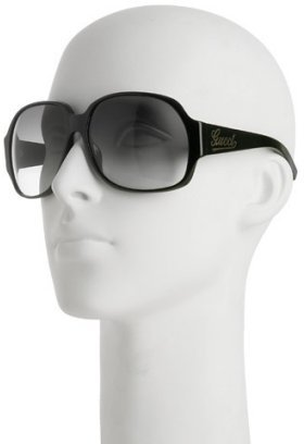 Gucci black oversized round sunglasses