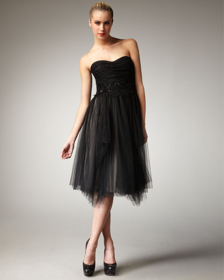 Robert Rodriguez Black Label Paula Embellished Strapless Dress